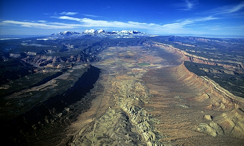 Aerial photo of Paradox Valley, Montrose  County, Colorado, CO  United States