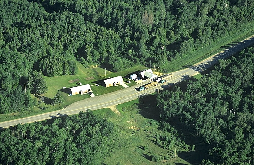 Aerial photo of Rural Port of Entry, Roseau County, Minnesota - Manitoba, MN  United States