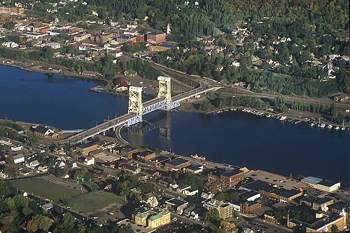 Houghton (MI) United States  City pictures : Airphoto Aerial Photograph of Houghton Hancock, Houghton County ...