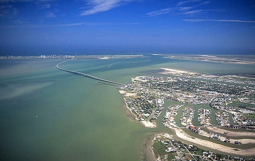 South Padre Island (TX) United States  city pictures gallery : Aerial photo of South Padre Island, Texas Gulf Coast, TX United States
