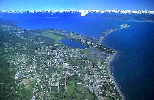 Kenai (AK) United States  city photos : Aerial photo of Homer, Kenai Peninsula, Alaska, AK United States