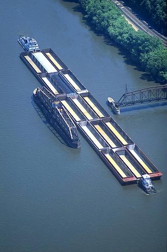 Dubuque (IA) United States  City new picture : Aerial photo of Swing Bridge & Barge, Dubuque, Iowa, IA United States