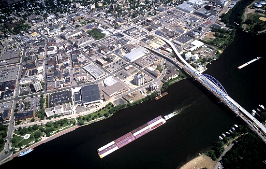 La Crosse (WI) United States  city pictures gallery : Aerial photo of La Crosse, La Crosse, Wisconsin, WI United States