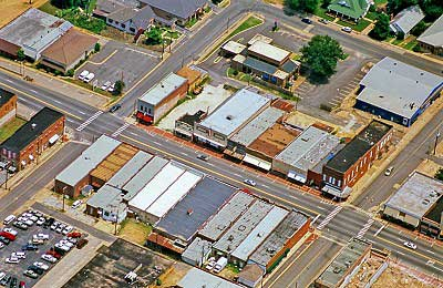 Airphoto NA - Downtown Malvern, US 270, Hot Springs County