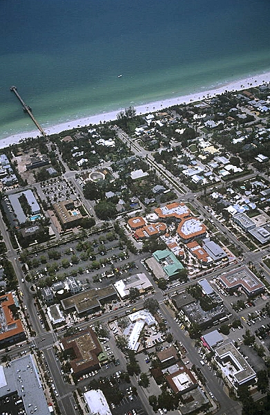airphoto aerial photograph of downtown naples us 41