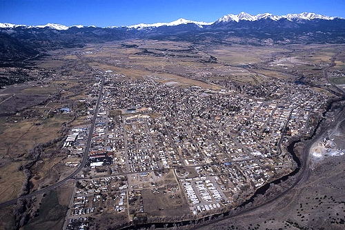 Salida (CO) United States  city pictures gallery : Aerial photo of Salida, Chaffee County, Colorado, CO United States