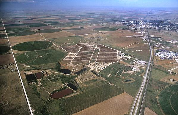 Guymon (OK) United States  city photo : Aerial photo of Stockyard, US 54, Guymon, Oklahoma, OK United States