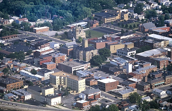 Tiffin (OH) United States  city photos gallery : Aerial photo of Downtown Tiffin, Seneca County, Ohio, OH United States