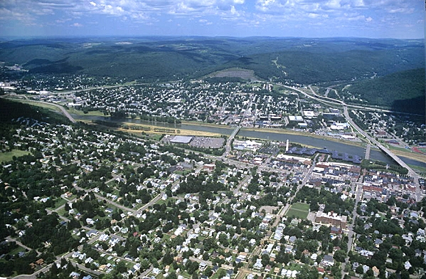 Corning (NY) United States  city pictures gallery : Aerial photo of Corning, Chemung County, New York, NY United States
