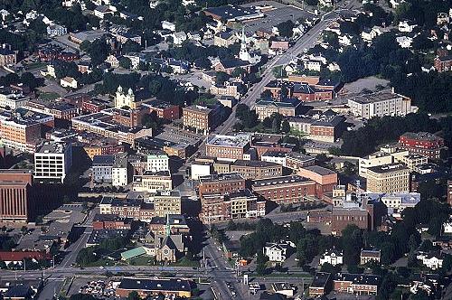 Airphoto Aerial Photo Of Downtown Bangor Maine Rte 9