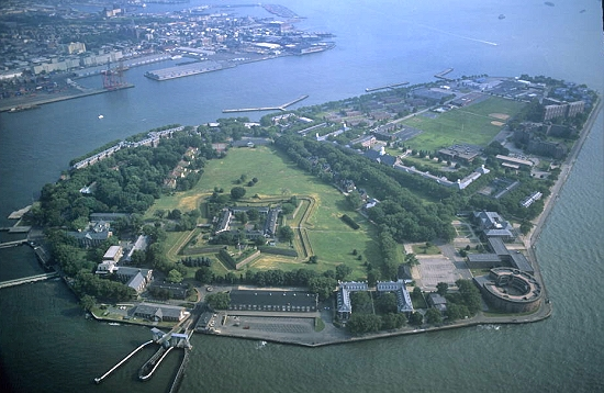 Airphoto Aerial Photograph Of Governors Island New York