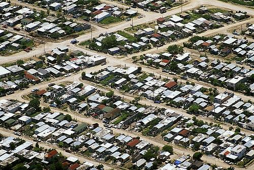 airphoto   aerial photograph of matamoros neighborhood